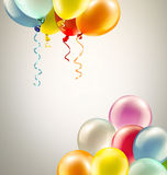 Festive background with balloons. Light festive background with bright colorful balloons Stock Photos