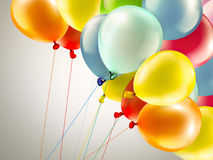 Festive background with balloons. Light festive background with bright colorful balloons Royalty Free Stock Photography