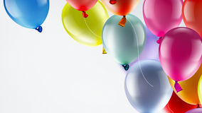 Festive background with balloons. Light festive background with bright colorful balloons Royalty Free Stock Photos