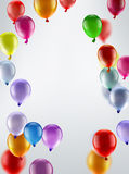 Festive background with balloons. Light festive background with bright colorful balloons Royalty Free Stock Image