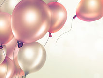 Festive background with balloons. Festive light background with orange balloons full screen Royalty Free Stock Photography