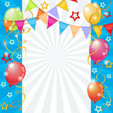 Festive background with balloons and pennants Royalty Free Stock Images