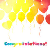 Festive background with balloons.Perfect for invitations,posters Stock Photo