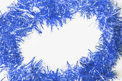 Festive background with blue garland Royalty Free Stock Images