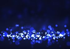 Festive background with bokeh lights royalty free illustration