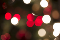 Festive background bokeh of red and white lights Stock Photography
