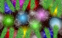 Festive background with the branches of christmas tree Royalty Free Stock Image