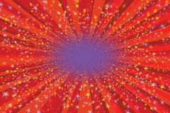 Festive background with bright sparks. Pop art retro vector Stock Image