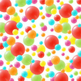 Festive background with brightly colored balloons. Celebration background with lots of festive balloons in green, red, yellow, pink, orange and blue Royalty Free Stock Photography