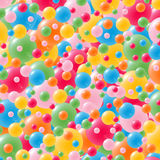 Festive background with brightly colored balloons. Celebration background with lots of festive balloons in green, red, yellow, pink, orange and blue Royalty Free Stock Photo