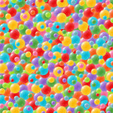 Festive background with brightly colored balloons. Celebration background with lots of festive balloons in green, red, yellow, pink, orange, purple and blue Royalty Free Stock Photo