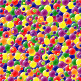 Festive background with brightly colored balloons. Celebration background with lots of festive balloons in green, red, yellow, pink, orange, purple and blue Royalty Free Stock Photography