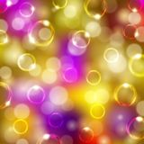 Festive background with bubbles, bokeh. Abstract festive background with bubbles, bokeh for design.  Vector colorful illustration EPS 10 Stock Photos