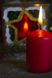 Festive background with candle. Royalty Free Stock Photography