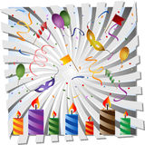 Festive background. With candles and festive items. EPS 10 Stock Images