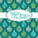 Festive background with Christmas balls Stock Photo