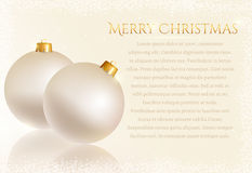 Festive background with Christmas balls. Vector card. Merry Christmas! White greeting card with christmas balls and space for text. Vector background Royalty Free Stock Image