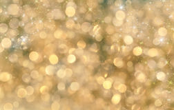 Festive background. Christmas and New Year feast bokeh background with copyspace Stock Photography