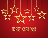 Festive background with Christmas stars.Vector illustration. Festive background with golden Christmas stars.Vector illustration. Holiday greeting Stock Photography