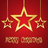 Festive background with Christmas stars.Vector illustration. Festive background with golden Christmas stars.Vector illustration. Holiday greeting Stock Photo