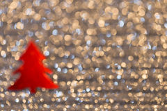 Festive background with christmas tree. Abstract twinkled bright Royalty Free Stock Images