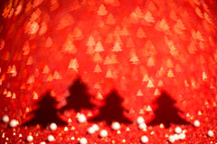 Festive background with christmas tree. Abstract twinkled bright Royalty Free Stock Image