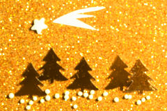 Festive background with christmas tree. Abstract twinkled bright Stock Photos