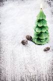 Festive background with Christmas tree candle Royalty Free Stock Images