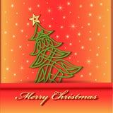 Festive background with Christmas tree of Celtic weave pattern. Illustration festive background with Christmas tree of Celtic weave pattern Stock Image
