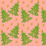 festive background with Christmas tree of Celtic weave pattern Royalty Free Stock Photos