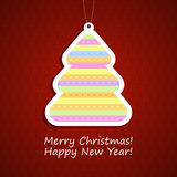 Festive background with Christmas tree Royalty Free Stock Photography