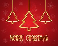 Festive background with Christmas tree.Vector illustration. Festive background with golden Christmas tree.Vector illustration. Holiday greeting Stock Images