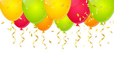 Festive background. With color balloons Royalty Free Stock Images