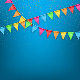 Festive background color flags Royalty Free Stock Photos