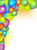 Festive Background. Festive  background with colorful balloons Stock Photography