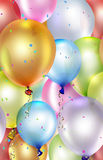 Festive background. With colorful balloons Royalty Free Stock Photography