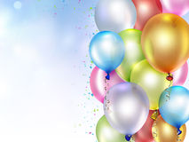 Festive background. With colorful balloons Stock Photos