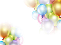 Festive background. With colorful balloons Royalty Free Stock Photo