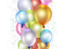 Festive background. With colorful balloons Royalty Free Stock Images