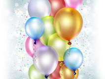 Festive background. With colorful balloons Stock Photography