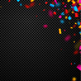 Festive background with colorful confetti. Festive checkered background with colorful confetti. Vector paper illustration Royalty Free Stock Photo