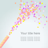 Festive3. Festive background with colorful confetti, eps 10 Stock Photo