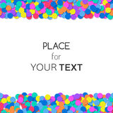Festive background with colorful confetti and place for text. Vector Stock Image