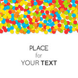 Festive background with colorful confetti and place for text. Vector Stock Photos