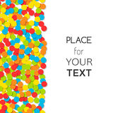 Festive background with colorful confetti and place for text. Vector Royalty Free Stock Image