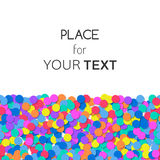Festive background with colorful confetti and place for text. Vector Stock Photo