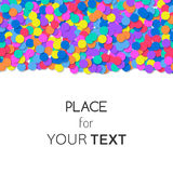 Festive background with colorful confetti and place for text. Vector Royalty Free Stock Photography