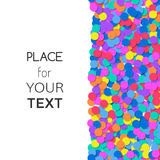 Festive background with colorful confetti and place for text. Vector Royalty Free Stock Photo