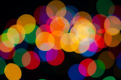 Festive background with colorful lights Stock Images