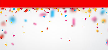 Festive background with confetti. Abstract festive background with colour confetti. Vector paper illustration Stock Photo
